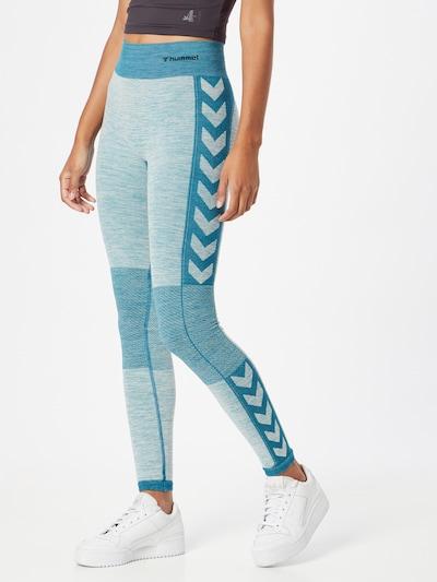 Hummel Workout Pants in Blue / mottled blue / Black, View model