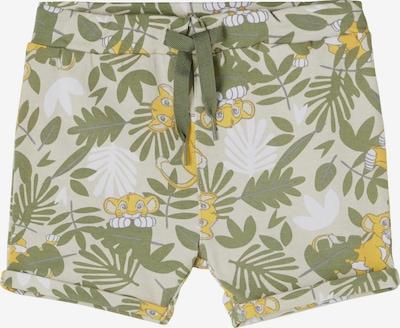 NAME IT Shorts in gelb / hellgrau / grün / weiß, Produktansicht