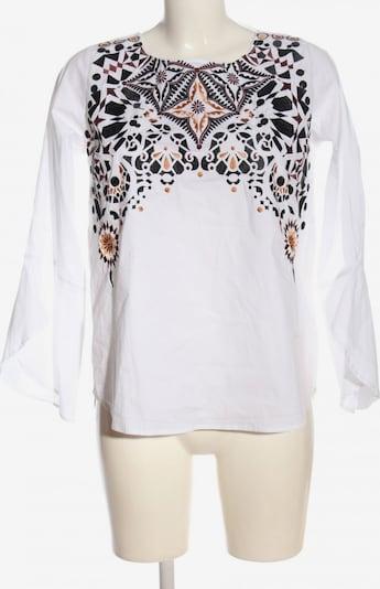 lykkelig Schlupf-Bluse in M in nude / schwarz / weiß, Produktansicht