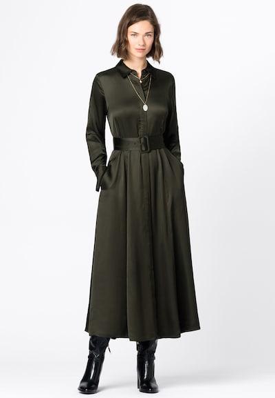 HALLHUBER Blusenkleid in dunkelgrün, Modelansicht