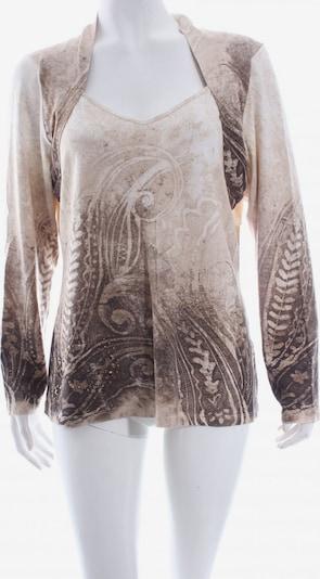 ZUCCHERO V-Ausschnitt-Shirt in XXL in beige / creme / dunkelbraun, Produktansicht