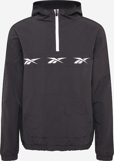 REEBOK Športová bunda - čierna / biela, Produkt