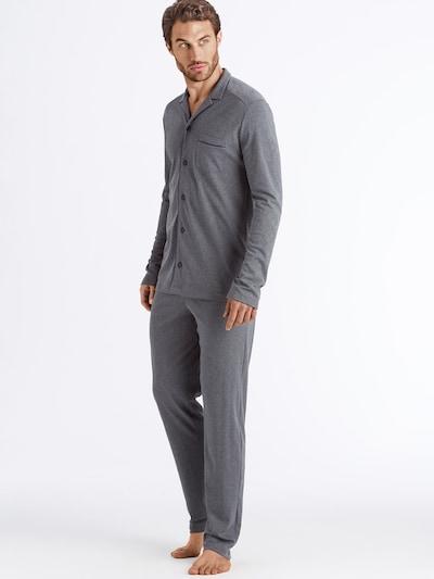 Hanro Pyjama ' Day & Night ' in graumeliert: Frontalansicht