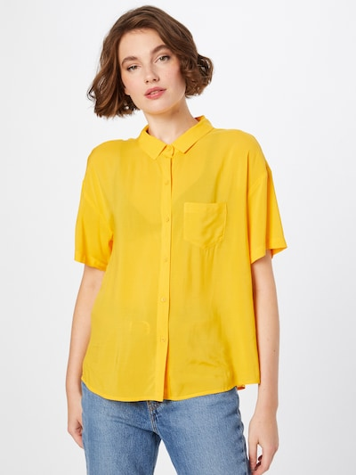 UNITED COLORS OF BENETTON Bluse in gelb, Modelansicht