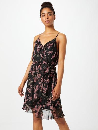 VERO MODA Kleid 'WONDA' in grasgrün / rosé / schwarz, Modelansicht