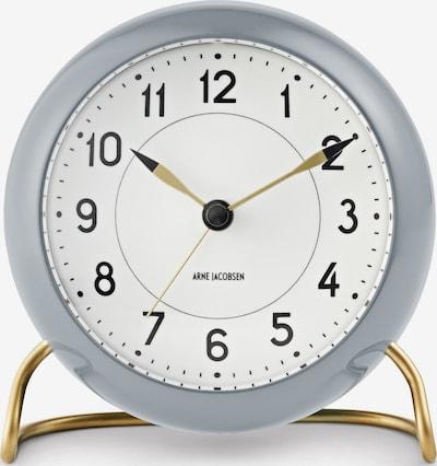 Arne Jacobsen Standuhr in gold / grau / weiß, Produktansicht