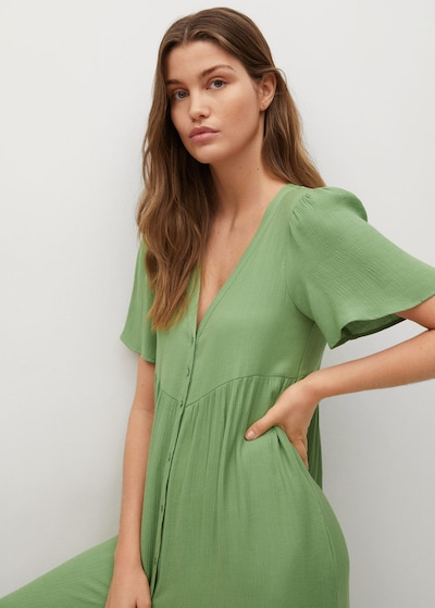 MANGO Kleid 'Sugar' in grün, Modelansicht