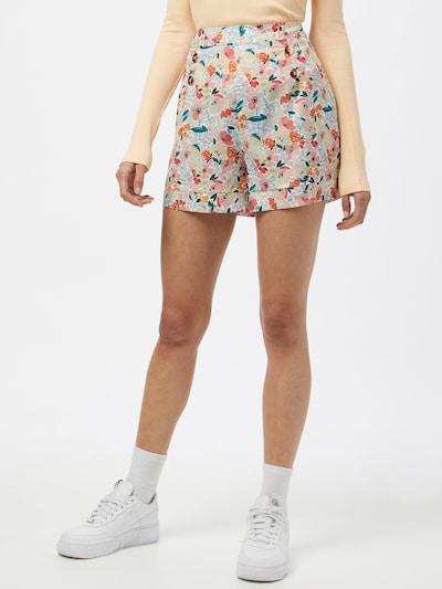 Molly BRACKEN Pantalon 'STAR' en bleu clair / mélange de couleurs / orange / blanc, Vue avec modèle
