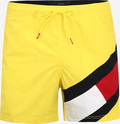TOMMY HILFIGER Plavecké šortky - svítivě žlutá / červená / černá / bílá, Produkt