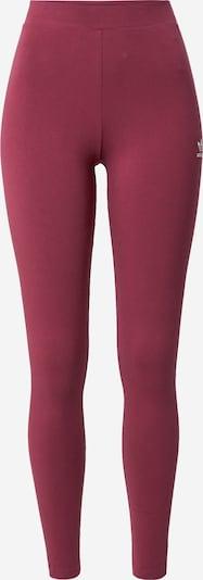 Leggings ADIDAS ORIGINALS pe roșu bordeaux / alb, Vizualizare produs