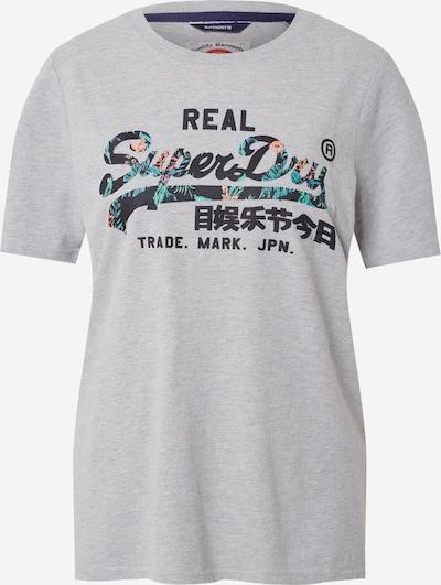 Superdry T-shirt en bleu foncé / gris chiné / jade / saumon, Vue avec produit
