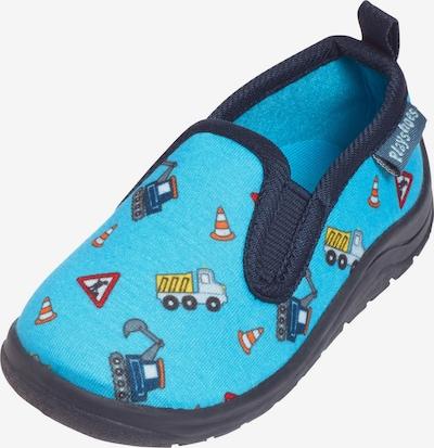 Papuci de casă 'Baustelle' PLAYSHOES pe turcoaz / albastru închis / mai multe culori, Vizualizare produs