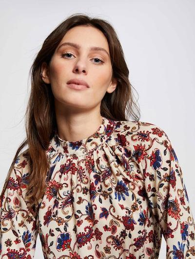 Morgan Blouse in de kleur Crème / Gemengde kleuren, Modelweergave