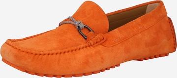 Mocasini 'Driver' de la BOSS Casual pe portocaliu