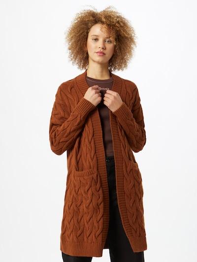 ONLY Strickjacke 'Freyah' in braun, Modelansicht