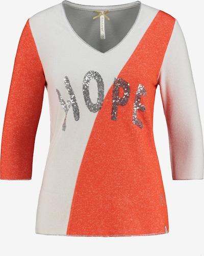 Key Largo Langarmshirt 'CORNER' in orange / weiß, Produktansicht