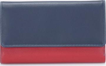 mywalit Geldbörse Leder 19 cm in Blau