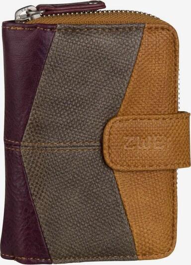 ZWEI Wallet ' Jana J1 ' in Light brown / Grey / Bordeaux, Item view