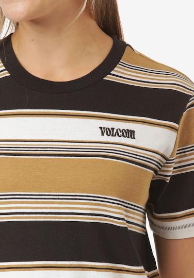 Volcom T-Shirt 'Doing Fine' in honig / schwarz / weiß, Produktansicht