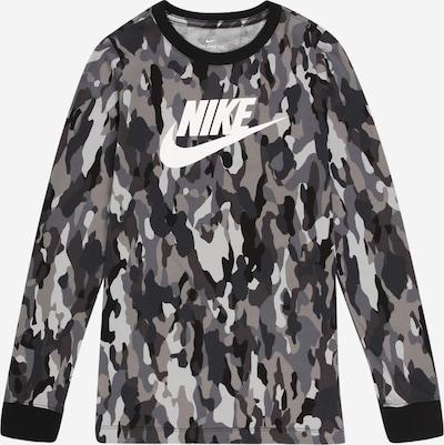 Nike Sportswear T-Shirt en gris / noir / blanc, Vue avec produit