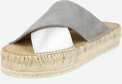 espadrij l´originale Pantolette 'Croisette' in grau / silber, Produktansicht