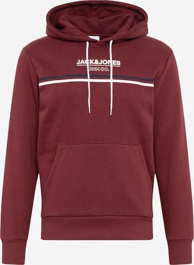 JACK & JONES Sweatshirt 'Haker' in dunkelblau / pastellrot / weiß, Produktansicht