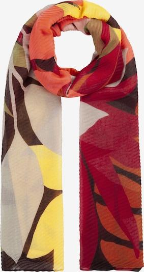 CODELLO Schal in braun / gelb / rot, Produktansicht
