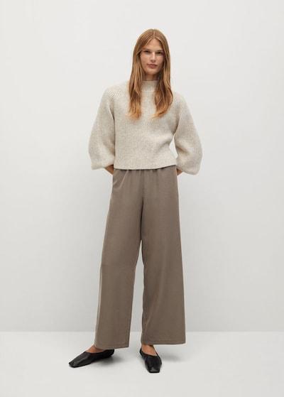MANGO Háremové nohavice - hnedá, Model/-ka