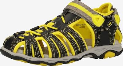 KICKERS Sandalen in gelb / schwarz, Produktansicht