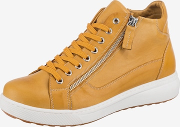 ANDREA CONTI High-Top Sneakers in Yellow