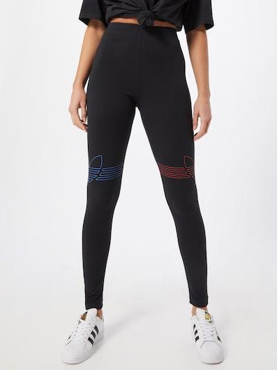 ADIDAS ORIGINALS Leggings in neonblau / feuerrot / schwarz, Modelansicht