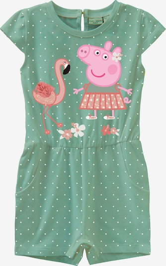 NAME IT Overall 'Peppa Pig' in mint / pink / altrosa, Produktansicht