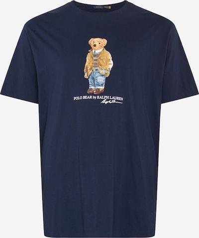 POLO RALPH LAUREN Shirt in de kleur Beige / Navy / Gemengde kleuren / Wit, Productweergave