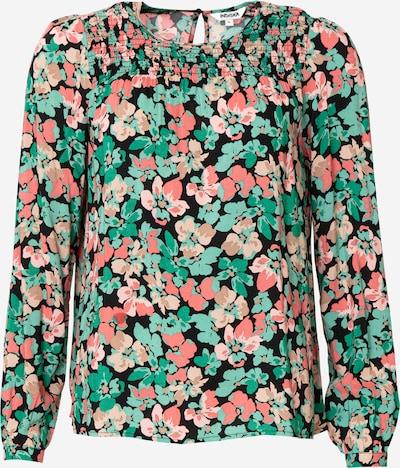 Indiska Blouse 'IMI' in de kleur Beige / Groen / Mintgroen / Rosa / Zwart, Productweergave