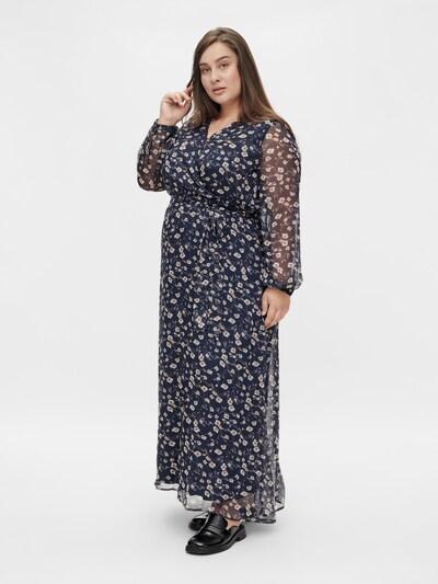 VILA Kleid 'Alivia' in creme / navy / hellbraun, Modelansicht
