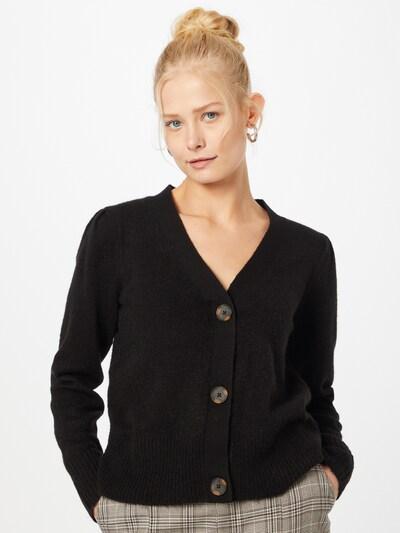 VILA Strickjacke 'ESHY' in schwarz, Modelansicht