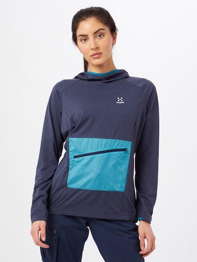 Haglöfs Sportsweatshirt 'Mirre' in navy / türkis: Frontalansicht