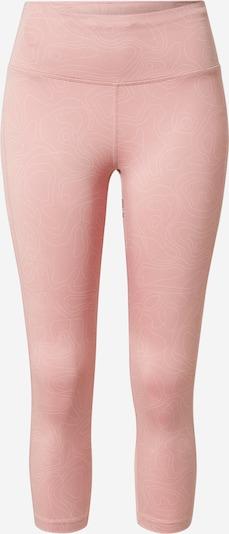 NIKE Спортен панталон в сиво / антично розово / бяло: Изглед отпред