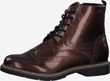 s.Oliver Lace-Up Ankle Boots in Bronze