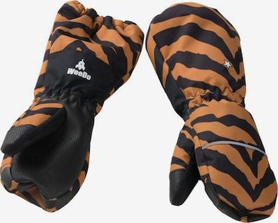 WeeDo Handschoenen 'Tigerdo Tiger' in de kleur Lichtbruin / Zwart, Productweergave
