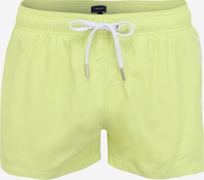 GANT Plavecké šortky - citronově žlutá / bílá, Produkt