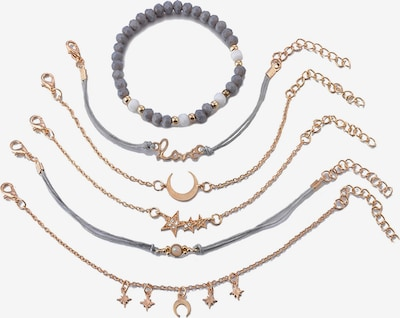 Heideman Armband in gold / grau / silber, Produktansicht