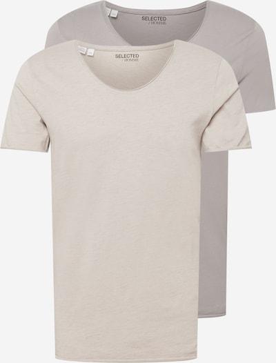 SELECTED HOMME Bluser & t-shirts 'NEWMERCE' i grå / lysegrå, Produktvisning