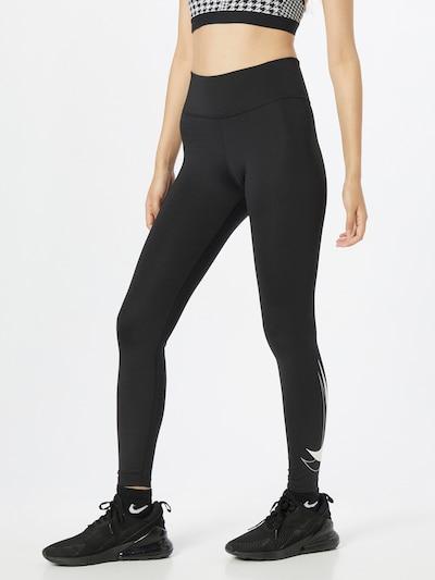NIKE Sportske hlače u crna / bijela, Prikaz modela