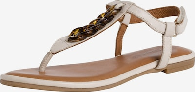 TAMARIS T-bar sandals in Cream / Light brown, Item view
