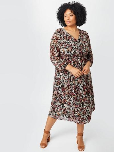 ABOUT YOU Curvy Kesämekko 'Nia Dress' värissä ruskea / punainen / musta / valkoinen: Näkymä edestä