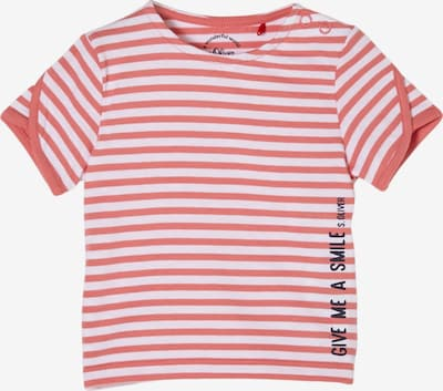s.Oliver Shirt in hellrot / schwarz / weiß, Produktansicht