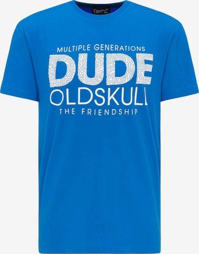Oldskull T-shirt print in blau, Produktansicht