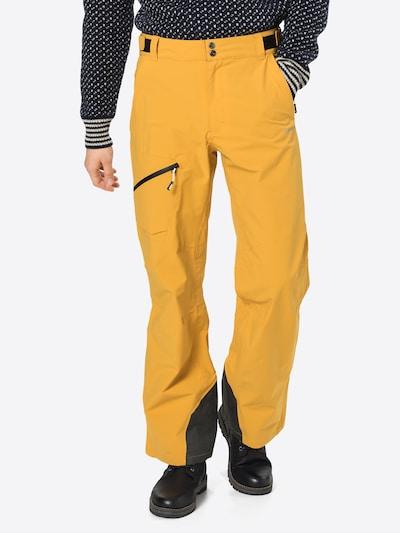 Sportinės kelnės 'Chatom' iš ICEPEAK , spalva - geltona / juoda: Vaizdas iš priekio