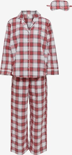 ONLY Pajama 'Ellie' in Fire red / Black / White, Item view